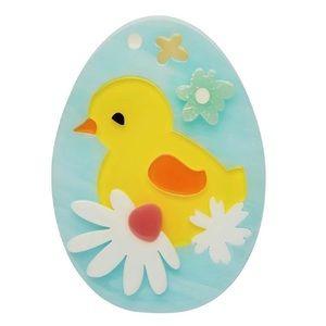 Erstwilder Easter BABY BLOOMER BROOCH Chick Pinup